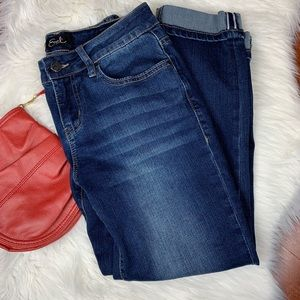 Earl Jeans Ankle Cuff Cropped Jeans 6P